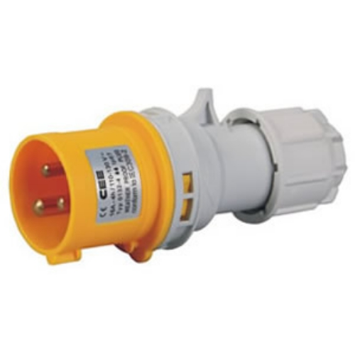 3 pin industrial plug cee-013n-4/023n-4 yellow 110V for sale factory