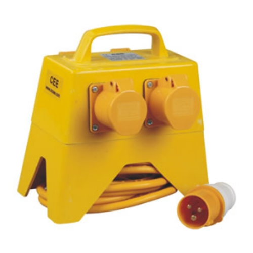 Manufacture price 3 phase industrial multiple socket outlet cee 1014-4 with yellow color