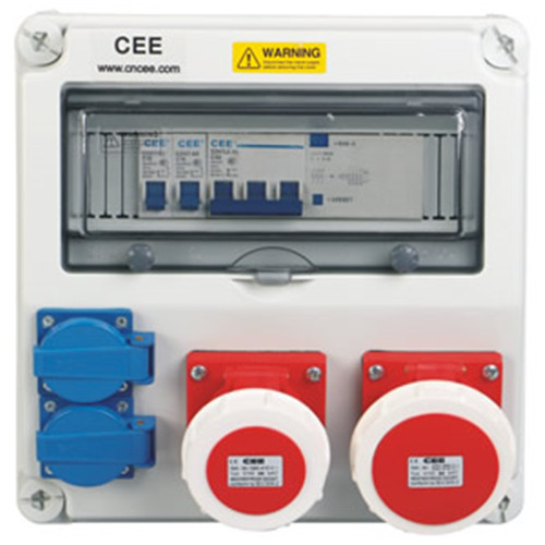 Manufacturer IP67 socket electrical cee-21 distribution box for industry made in China